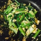 カルシウム摂取!小松菜とツナの炒め物
