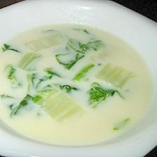 白菜の無脂肪ミルクスープ