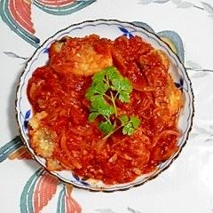 真鱈の切り身のトマト煮