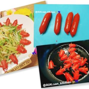 【キャラ弁】赤いウィンナーでチビタコ タコさん