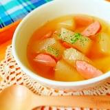 やわらかい〜♪みすみずしい冬瓜のコンソメスープ☆
