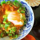 半熟たまごカレー丼*朝ごはん