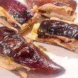 青唐辛子でピリ辛美味しい♪肉はさみ焼き茄子