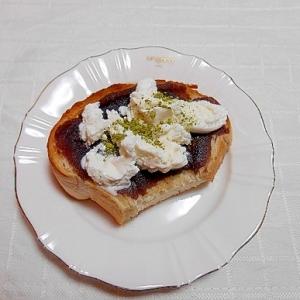 アイス&あんこ青汁トースト