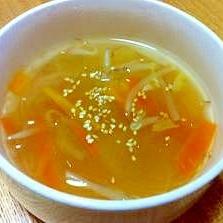 野菜と春雨の中華スープ