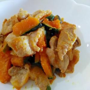 豚肉とかぼちゃの甘味噌炒め