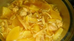 大根とキノコの有り合わせ煮