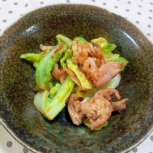 春キャベツと豚こま切れ肉の✿焼き肉のたれ焼き❤