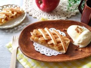ごろごろ果肉のアップルパイ風トースト