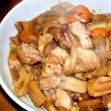 圧力鍋で手早く作る 秋の味覚・しめじ入り筑前風煮物