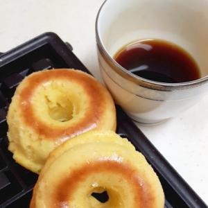 HMで作る(^^)の甘酒の素入り焼きドーナツ♪