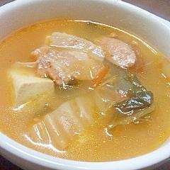 モリモリ食べる☆キムチスープ