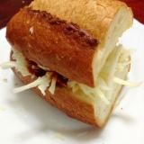 フランスパンdeハンバーガー【脱☆マンネリ朝食】