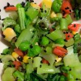 小松菜とミックスベジタブルの胡麻和え