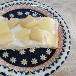 りんごのヨーグルトきな粉ハニートースト❤