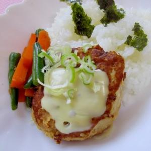 簡単✨美味しい✨豚キャベツのチーズハンバーグ