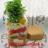 簡単!可愛♪旨し♪プチサイズ【野菜のジャーサラダ】
