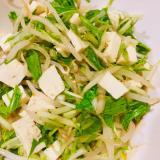 もやしと水煮と豆腐のサラダ