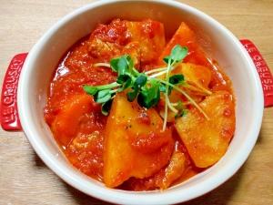 簡単!鶏肉とゴロゴロ野菜のトマト煮