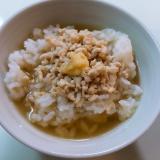 生姜風味の鶏ミンチ出汁茶漬け