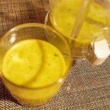 オレンジジュースで野菜ジュース♪ モロヘイヤ&胡麻