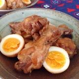 手羽元とゆで卵☆さっぱり煮