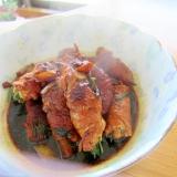 韮牛蒡生姜味醂醤油煮