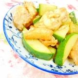 ❤鶏肉と加賀太きゅうりのめんつゆ生姜炒め❤