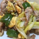 豚バラ肉とキャベツのわさびマヨ炒め