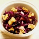 簡単! 紫キャベツ(キャベツ)とクルミの甘酢和え♪
