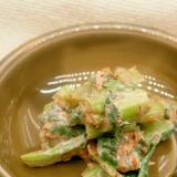 小松菜とマスカルポーネのあえ物