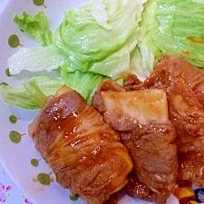 長芋の肉巻き☆甘辛生姜味♪
