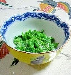 菜の花の辛子味噌マヨ和え~♥