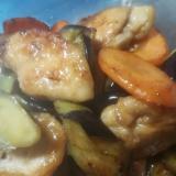 簡単☆焼くだけ☆鶏ムネ肉とナスの煮浸し