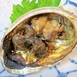 居酒屋の一品 44)鮑の肝をオツに「塩焼き」