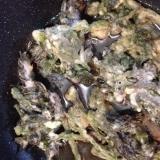 たらの芽の煮天ぷら。