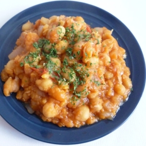 モロッコ風 ひよこ豆のトマト煮込み