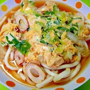 白菜と竹輪の卵とじうどん