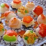 雛まつりは白だしで手まり寿司