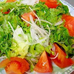 新玉ねぎとトマトのサラダ