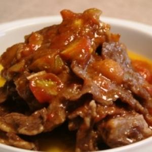牛肉ハラミとトマトのソテー