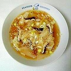 市販品に一手間で美味しく☆肉ワンタンスープ☆