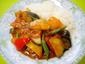 具だくさん❤夏野菜のカレーライス