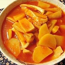 エリンギとジャガイモのナポリタンソース煮込み