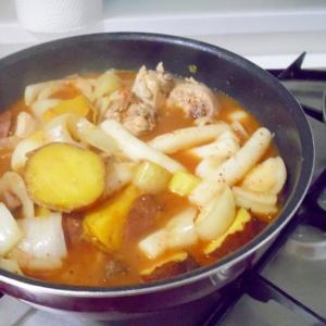 鶏肉と薩摩芋のピリ辛煮
