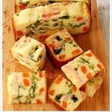 野菜とハムとチーズのミルフィーユケークサレ