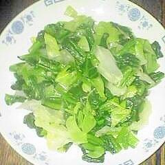 パワーアップに ニンニクで野菜炒めです♪