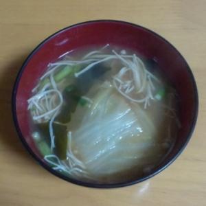 えのきと白菜のお味噌汁