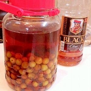 こっくり芳醇、完熟梅の黒糖ウイスキー梅酒