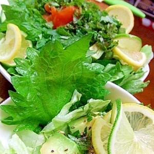 アボカドサラダ*ねじりレモンの作り方